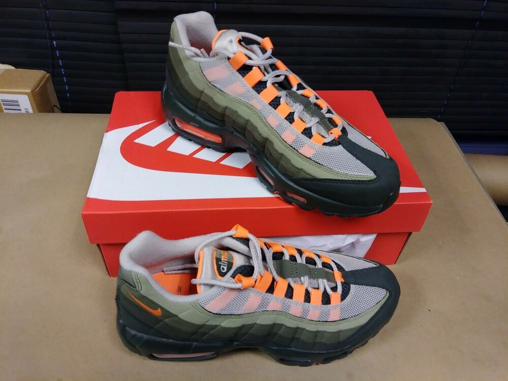 quality design 1ad0b 5650d Nike Air Max 95 Neutral Olive At 2865-200 Total Orange 6.5 MENS 8 WOMENS  #fashion #clothing #shoes #accessories #mensshoes #athleticshoes (ebay link)