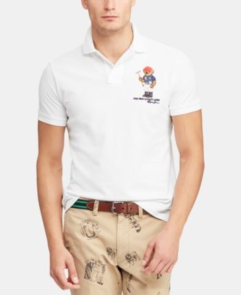 0de8ec3b2 Polo Ralph Lauren Men's Classic Fit Polo Bear Polo, Created for Macy's -  White XXL