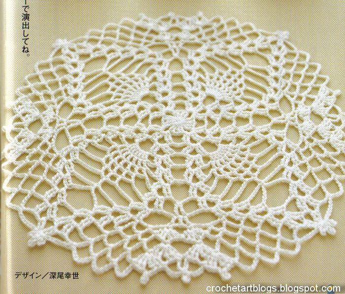 Crochet piña pequeña Tapetito | Crochet Lacey Things | Pinterest ...