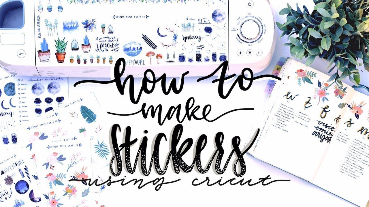 How i make my stickers using cricut and procreate