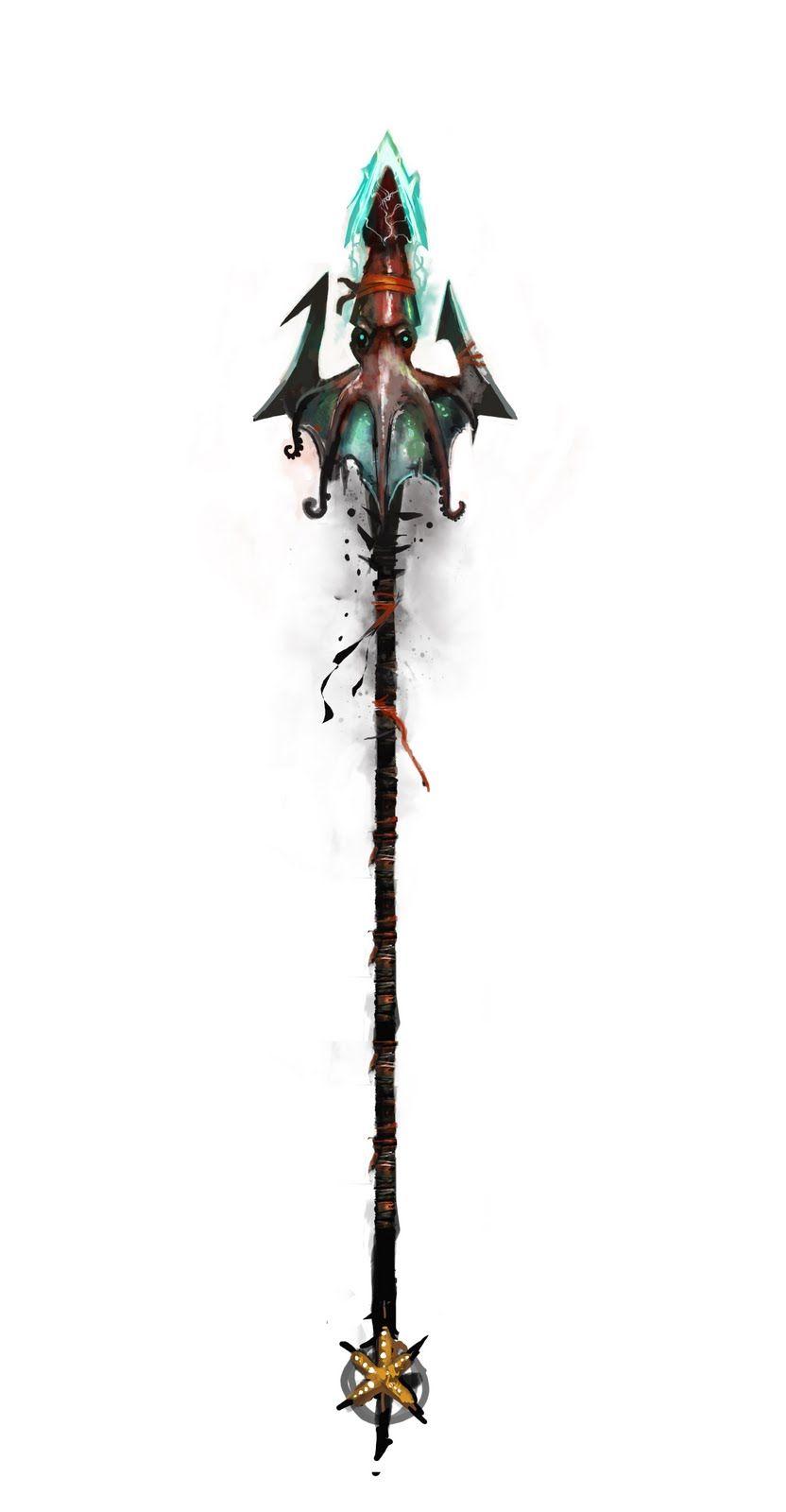 Poseidon Staff Tattoo: Pin On Concept Art