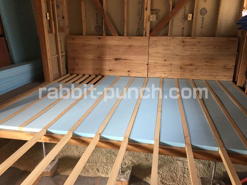 床断熱材をdiyで施工 湿気に強いスタイロフォームで底冷え対策