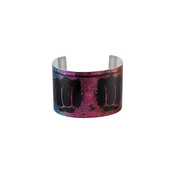Ice Colored Stainless Steel Power Cuff Bracelet by Tattooed Steel ($70) ❤ liked on Polyvore