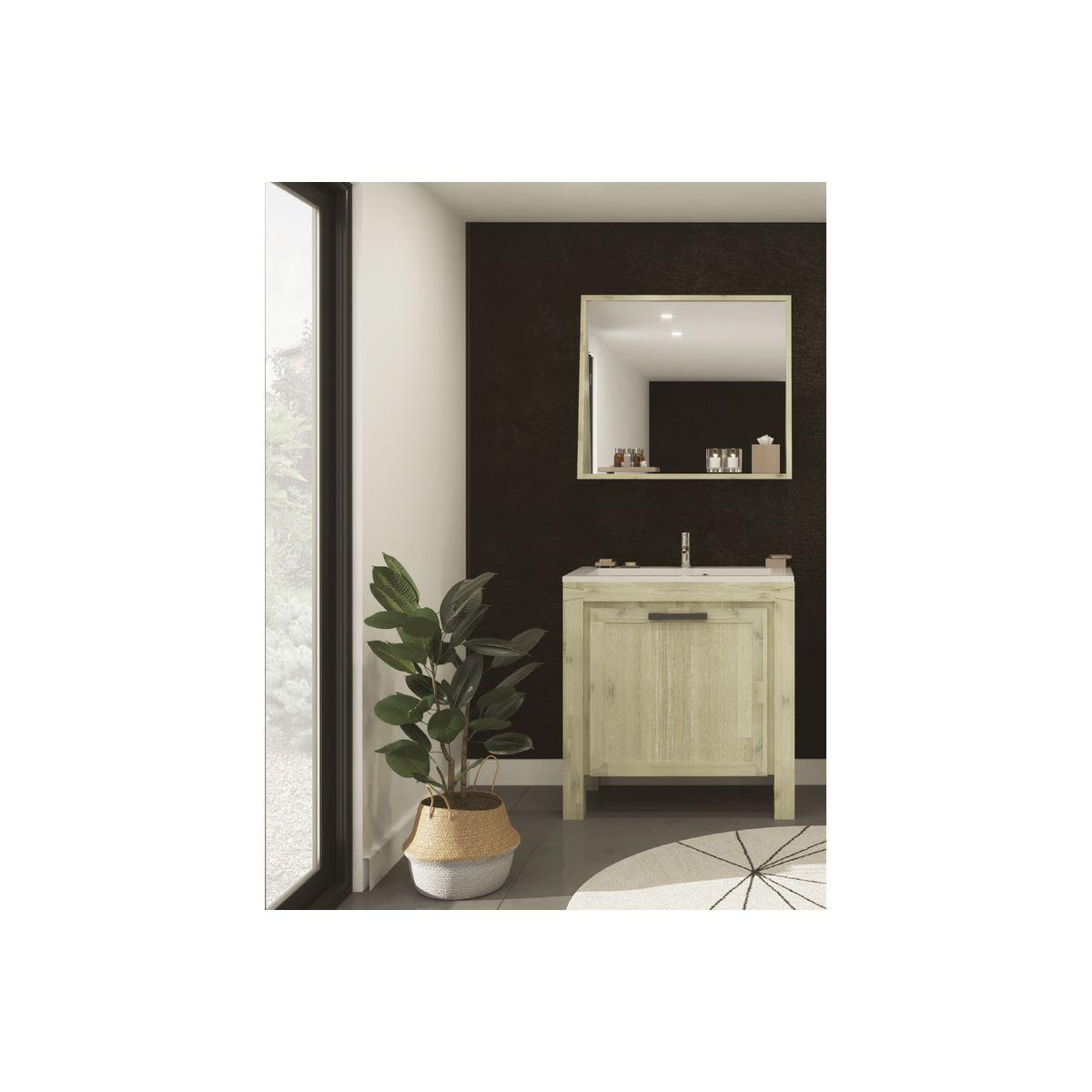 Tablette Salle De Bain 80 Cm meuble de salle de bain bois massif 80 cm - ensemble markle