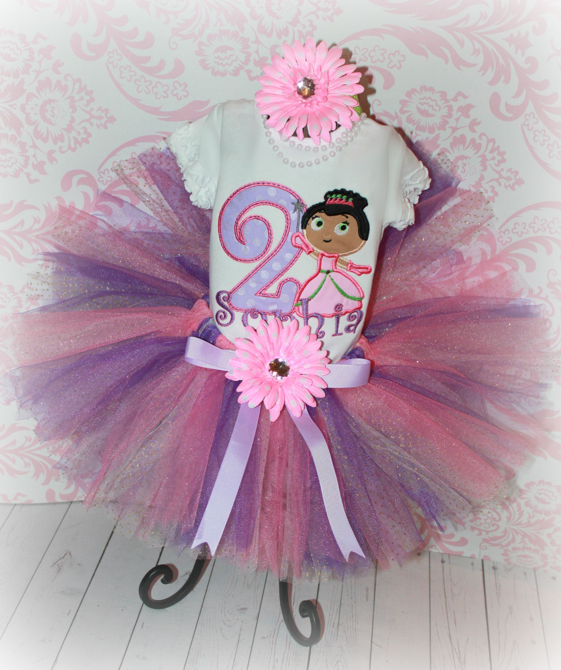 Super Why Princess Presto Pea Girls Birthday Tutu Outfit