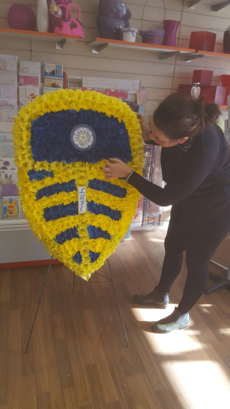 Leeds united football club funeral tribute created for a leeds utd leeds united football club funeral tribute created for a leeds utd fan doncaster florist www dhlflorist Choice Image