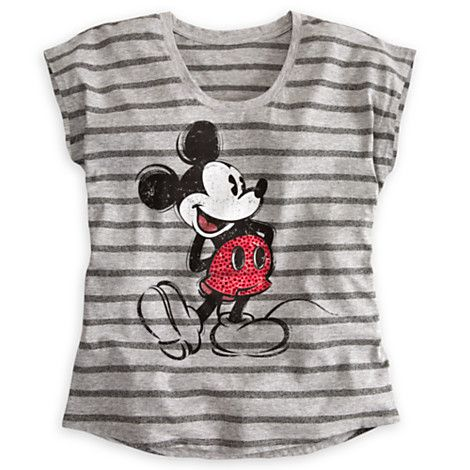 Mickey Mouse Rhinestone Tee for Women Tees, Tops