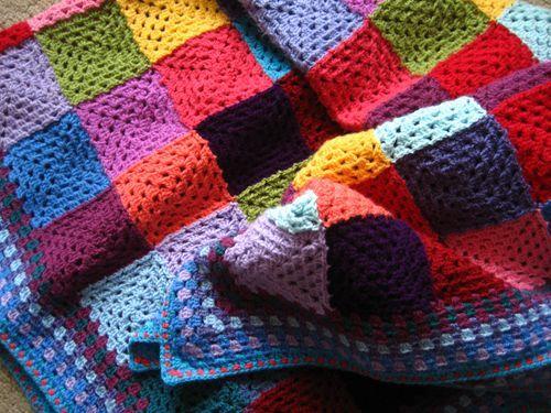 granny patchwork blanket ta dah granny pinterest h keln. Black Bedroom Furniture Sets. Home Design Ideas