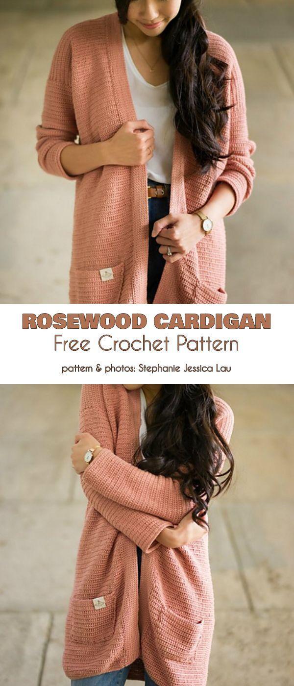 Longer Cardigan Free Crochet Patterns