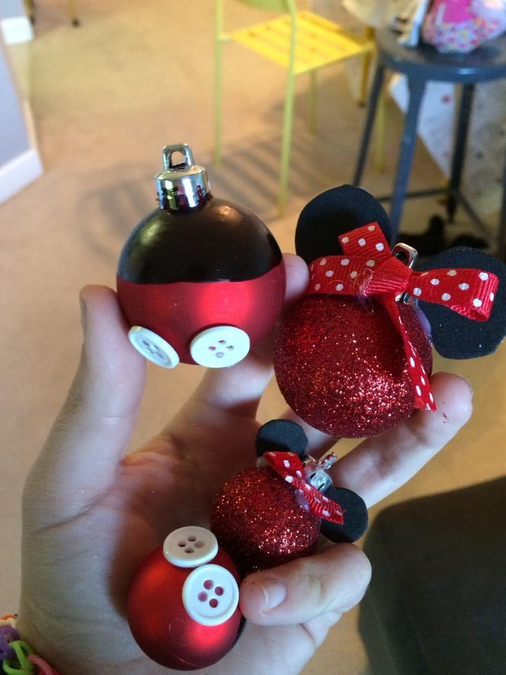 Mickey and Minnie Ornaments | Disney Craft Ideas | Pinterest ...