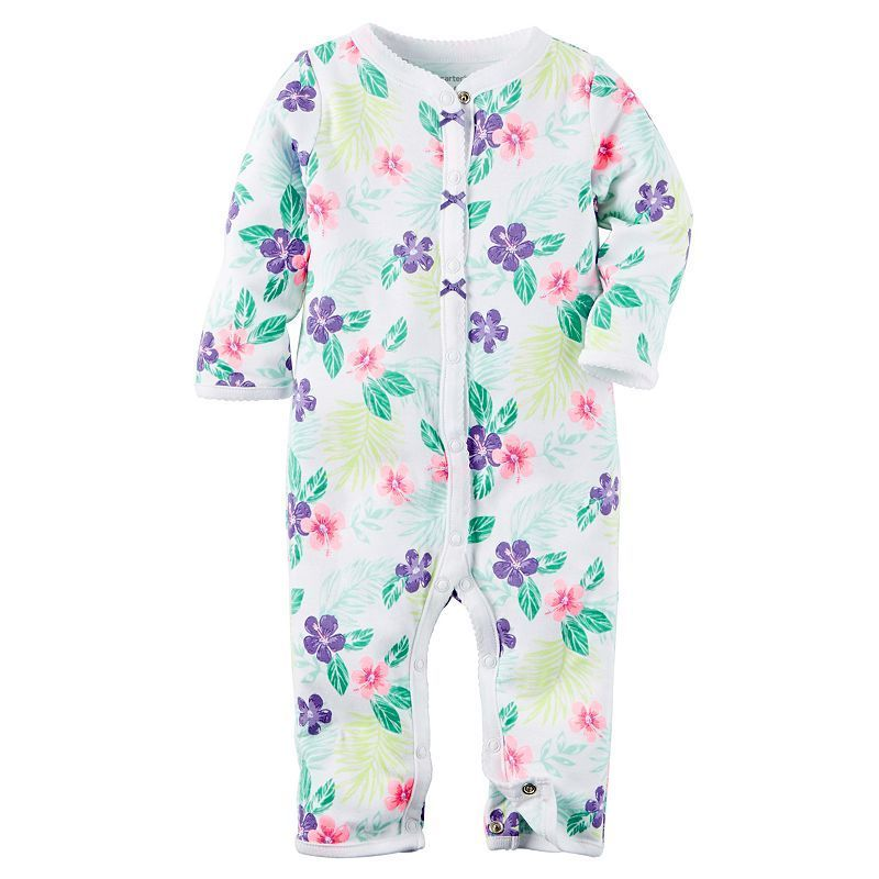 Baby Girl Carter's Print Bow Coveralls, Size: