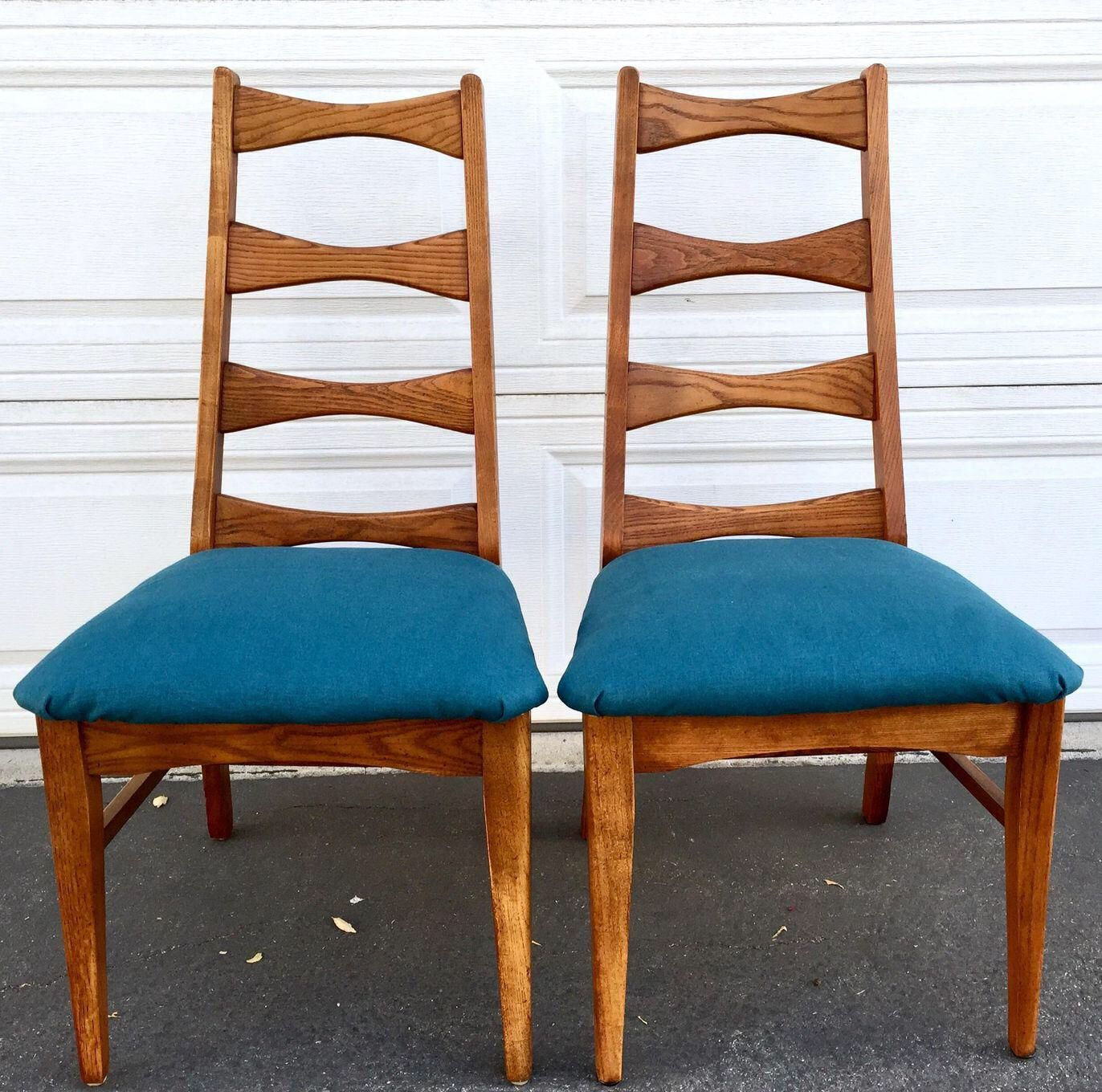 Mid Century Ladder Back Chairs Pair On Chairish Com With Images