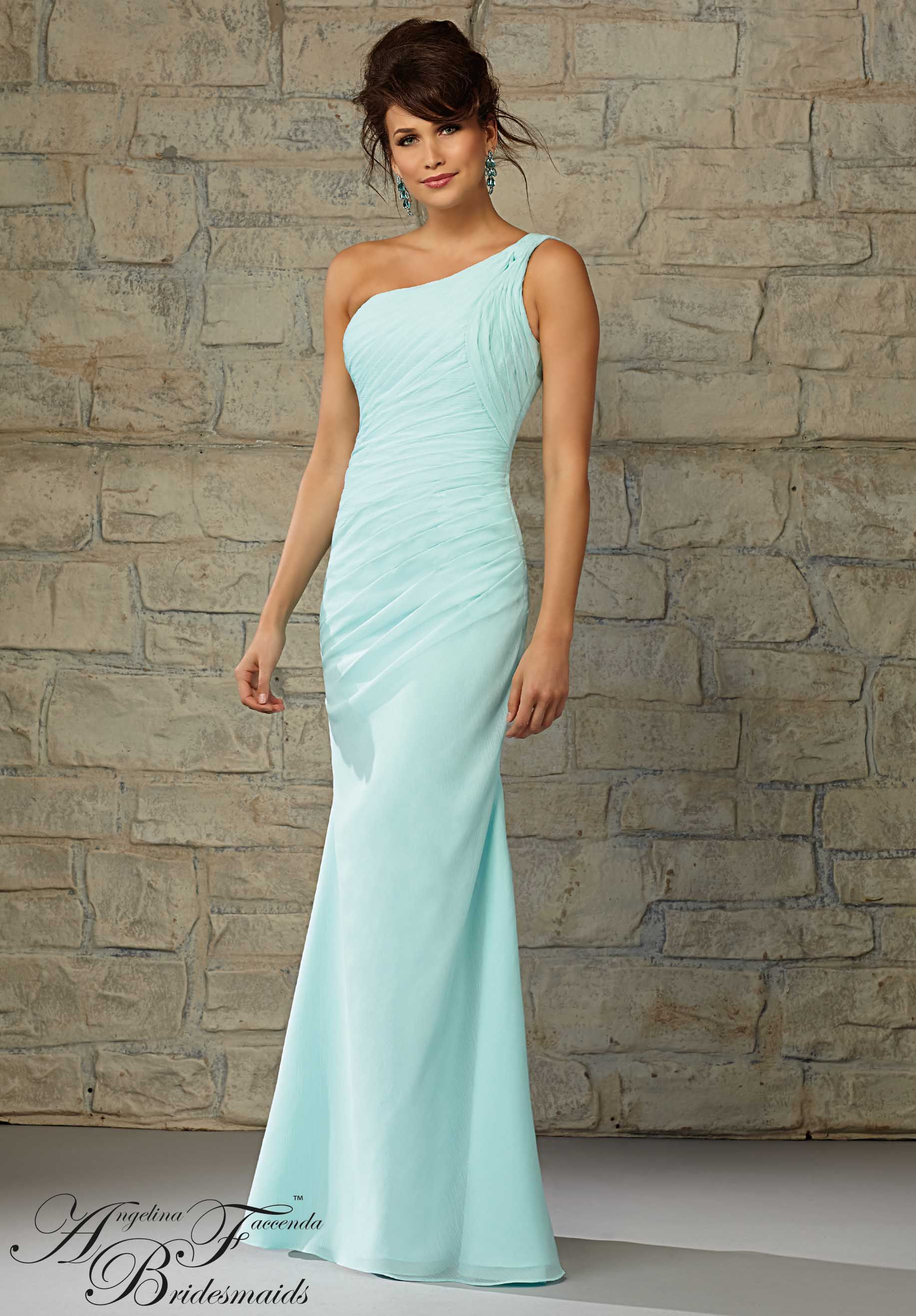 Bridesmaids Dresses by Angelina Feccenda Luxe Chiffon Available in all Angelina Faccenda Bridemaids Luxe Chiffon colors