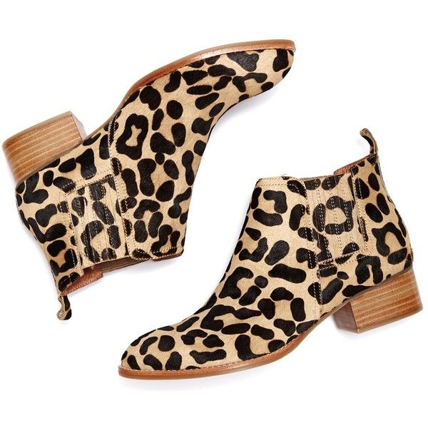 Jeffrey Campbell Metcalf Leopard Bootie 199 Liked On