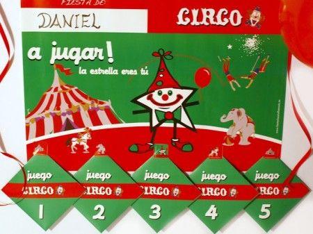 PACK DE 5 JUEGOS DEL CIRCO - Conviértete en una estrella del mayor espectáculo del mundo y disfruta de tu fiesta de cumpleaños, comunión o fiesta infantil temática jugando con todos tus amigos a los JUEGOS de CIRCO. ¡¡DIVIÉRTETE, ya verás como os lo pasáis!!! $9.60
