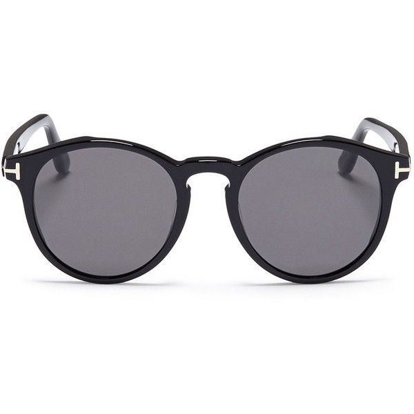 Tom Ford \'Lan\' acetate round sunglasses ($435) ❤ liked on Polyvore ...