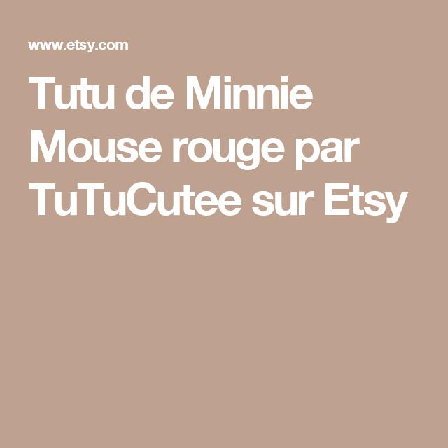 Tutu de Minnie Mouse rouge par TuTuCutee sur Etsy