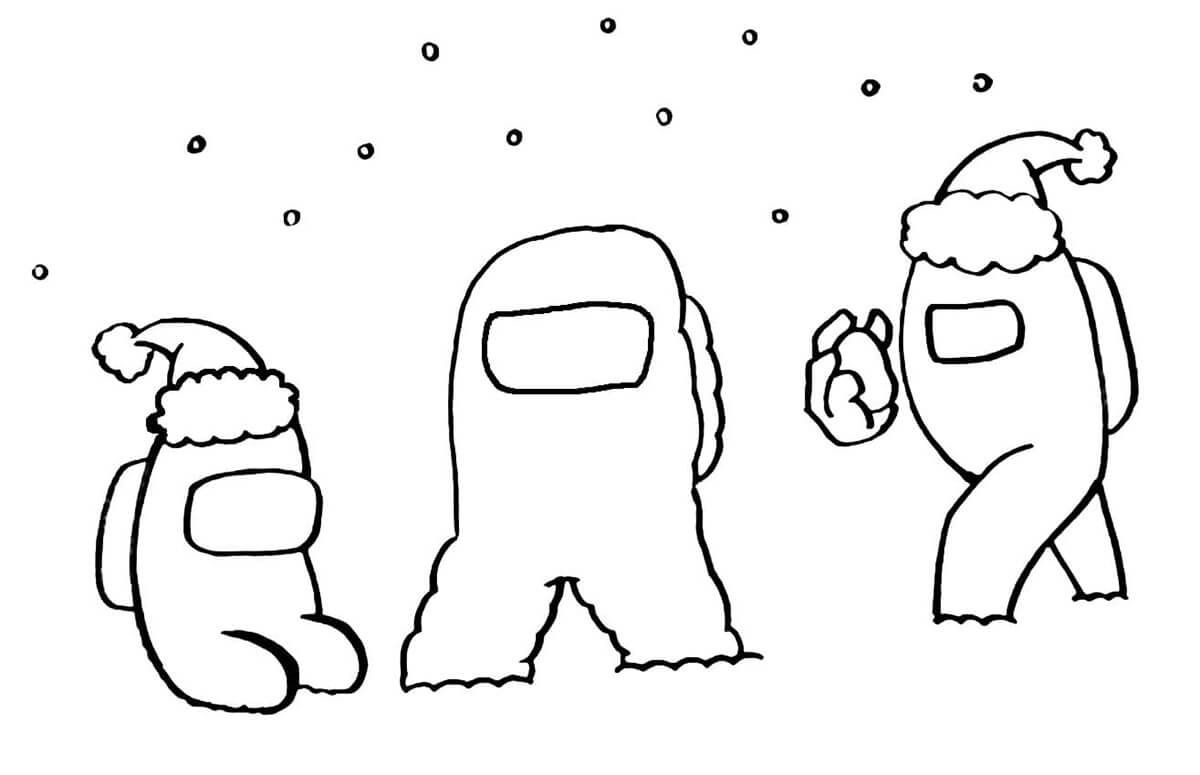 Among Us Santa Claus Coloring Page In 2021 Coloring Pages Free Printable Coloring Coloring Pages For Kids