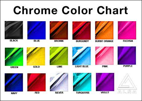 Alsa Chrome Color Chart Chrome Vinylwraps Rvinyl Use