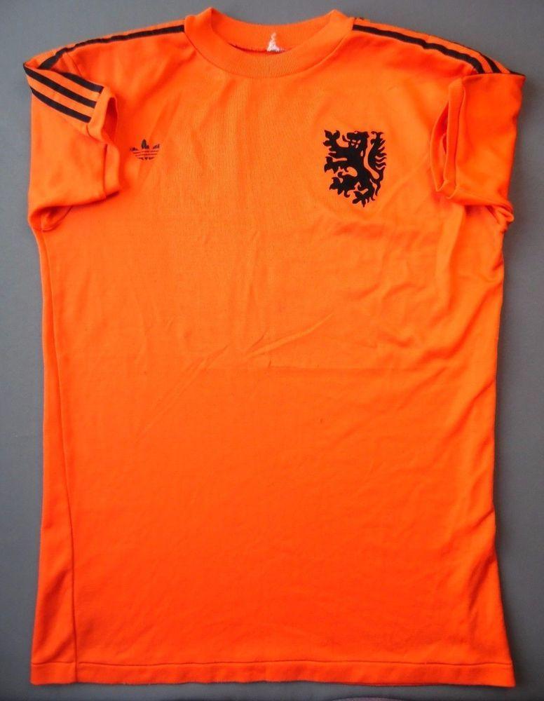 3d6e3a4b85 4 5 RARE VINTAGE Netherlands Home football shirt 1974 ORIGINAL SOCCER ADIDAS