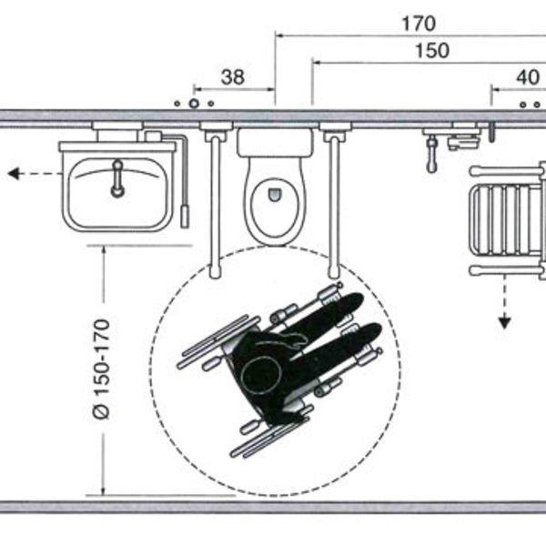 Les plans du0027une salle de bains aménagée pour un fauteuil roulant - Plan Electrique Salle De Bain
