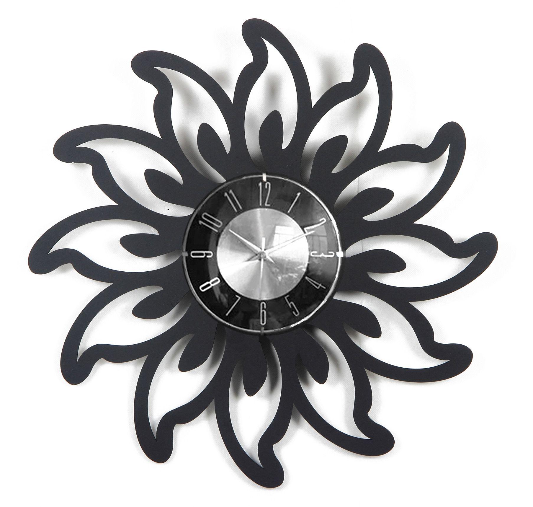 20 Lotus Petal Clock Mid Century Decor Clock Wall Clock