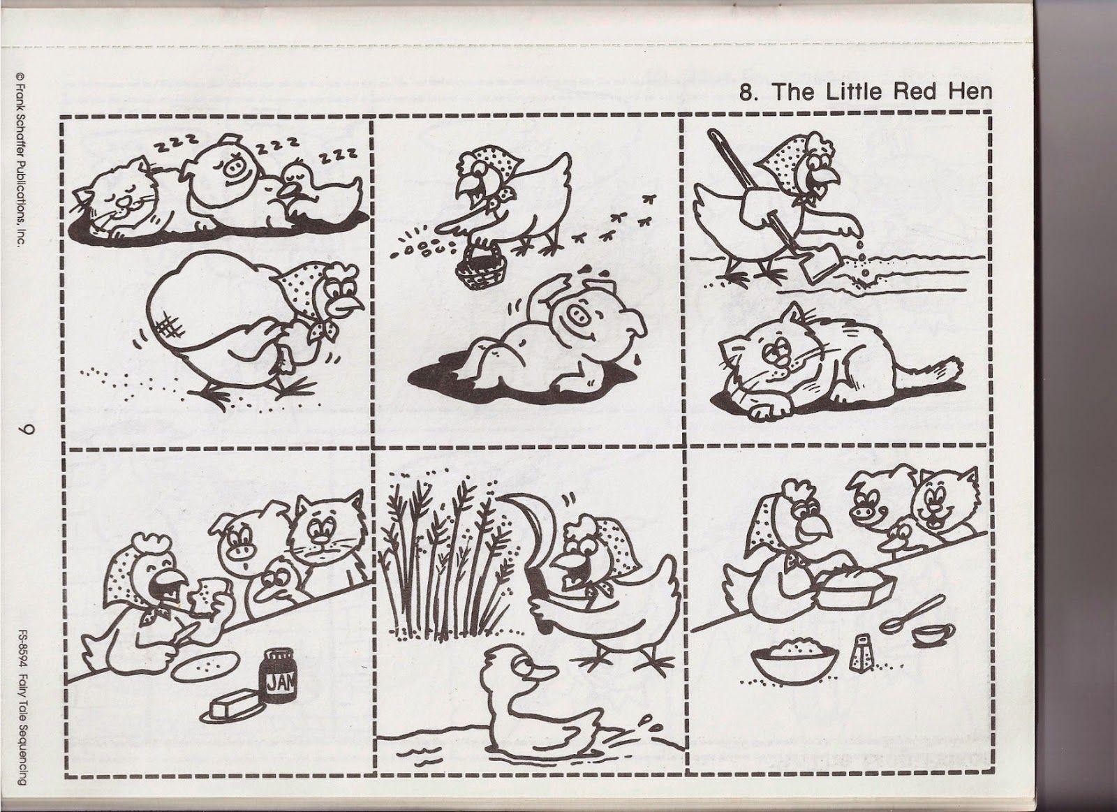 Recursos De Educacion Infantil Fairy Tales Kindergarten Little Red Hen Activities Little Red Hen [ 1163 x 1600 Pixel ]