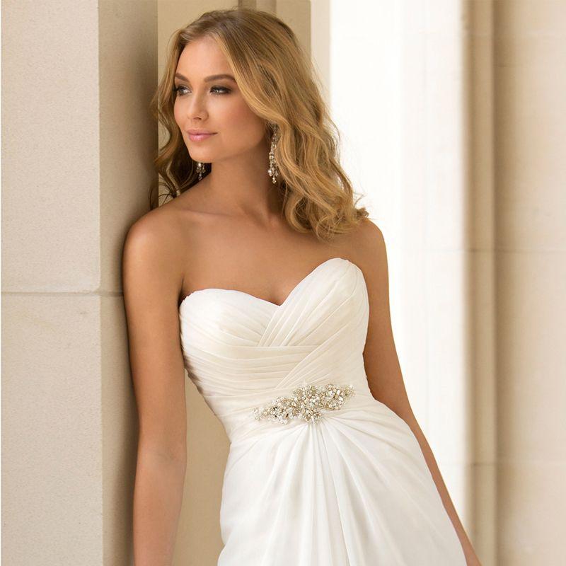 Simple Wedding Dress Hong Kong: Hot Selling A Line Chiffon Wedding Dresses Beading Vestido