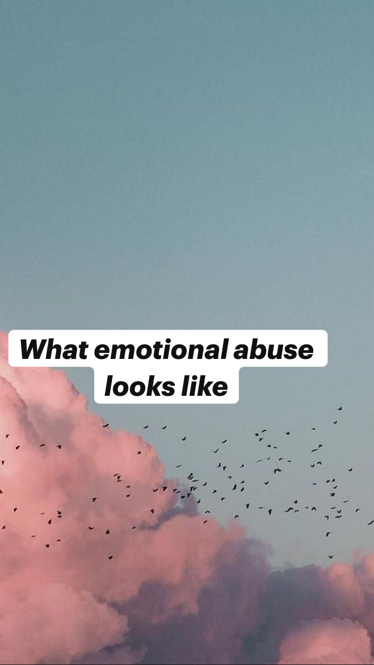 What emotional abuse looks like
