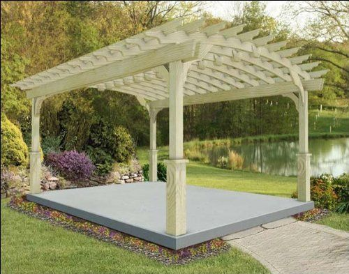 14 X 20 Red Cedar Arched Pergola By Fifthroom 6499 00 Free Standing Pergola Garden Structures Pergola