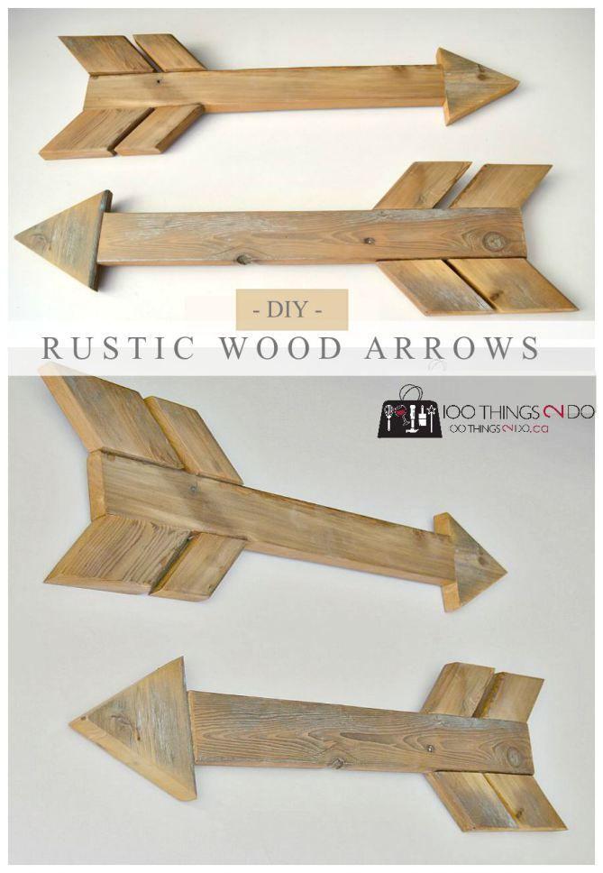 diy wood arrows wood arrow rustic wood and arrow. Black Bedroom Furniture Sets. Home Design Ideas