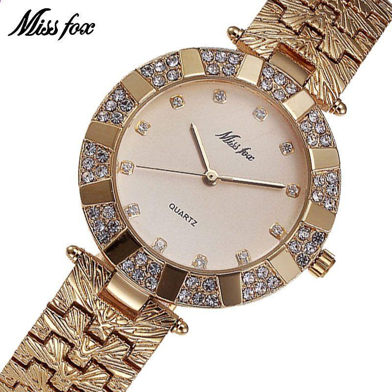b6cd1264cc5 Misfox miss miss marca de quartzo mulheres relógios de luxo à prova d  água  relógios