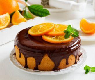 Gâteau moelleux orange et chocolat