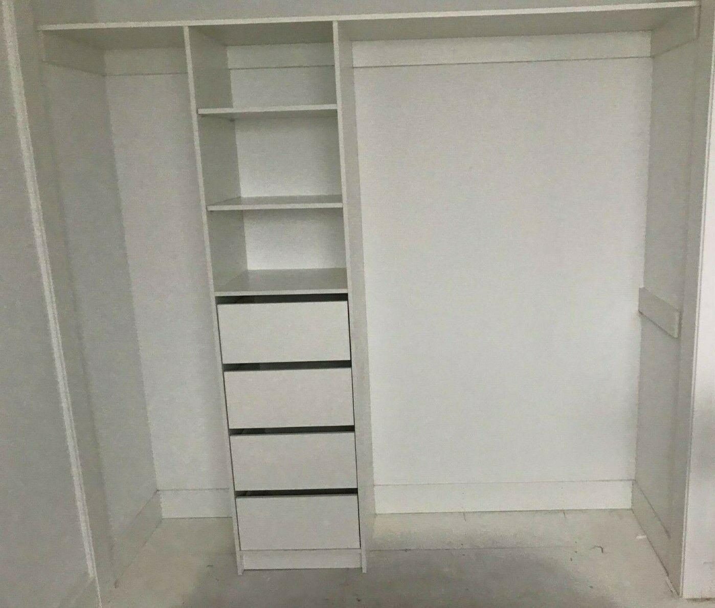 Wardrobe Insert Complete Package Assembled In 2020 Closet Storage Space Wardrobe Storage Adjustable Shelving