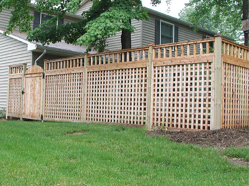 Lattice Privacy Fence Ideas Wood Square Lattice Fence
