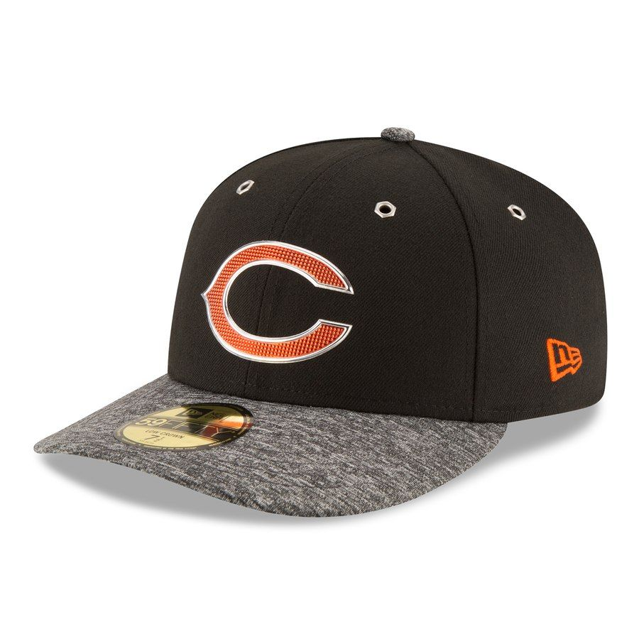 Men s Chicago Bears New Era Black Shadow Tech Low Profile 59FIFTY Fitted Hat afbf95b4ca34
