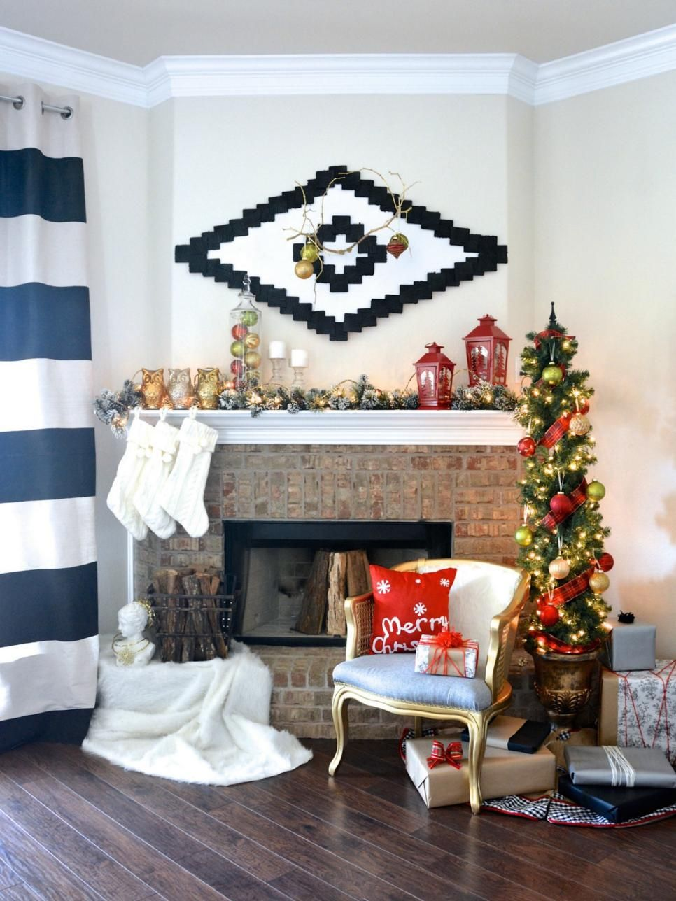 Cheap Chic Mantel Ideas
