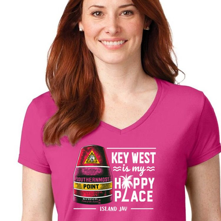 Island Jay Key West is My Happy Place T-Shirt
