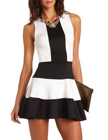 Color Block Scuba Skater Dress!!!
