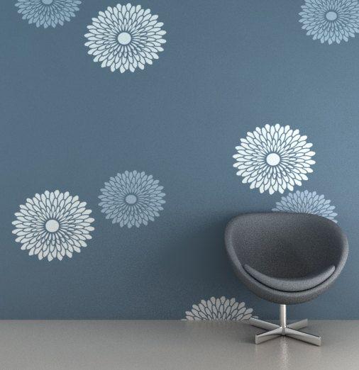 Reusable Flower Wall Decoration Diy Home Decor Stencil Fs 03 Flower Wall Decor Wall Paint Designs Asian Paints Wall Designs