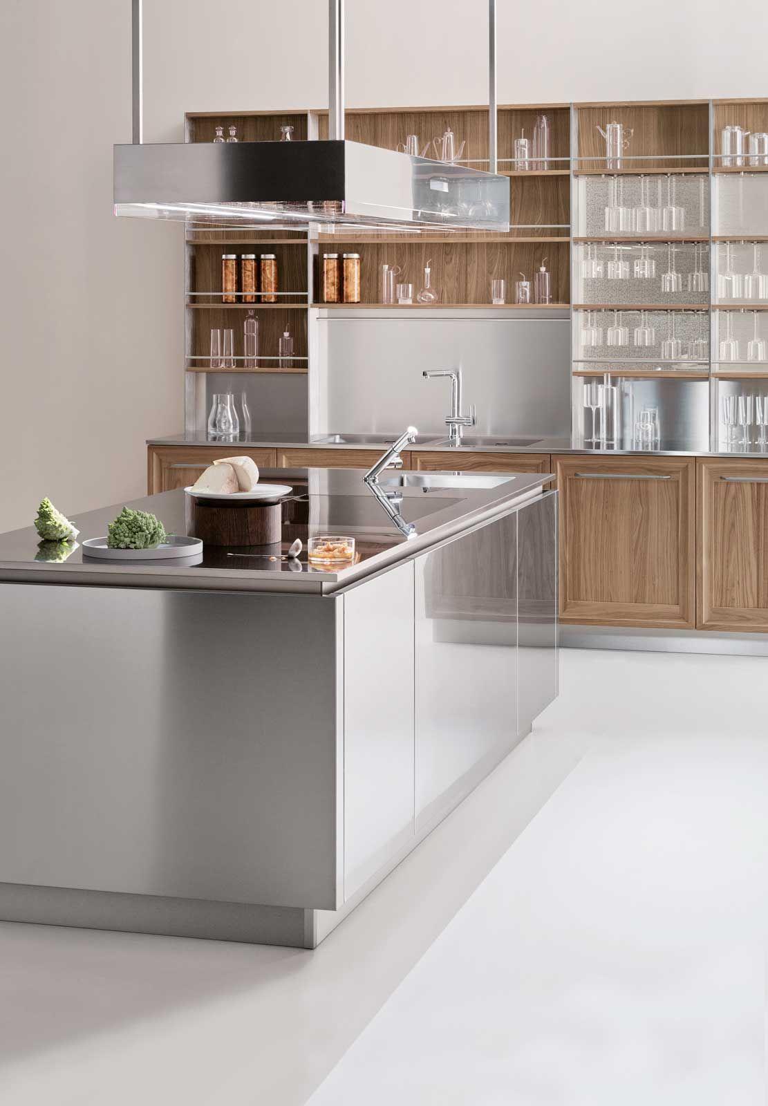 Cucina Lineare Acciaio | Finiture Dettagli Cucine Lube