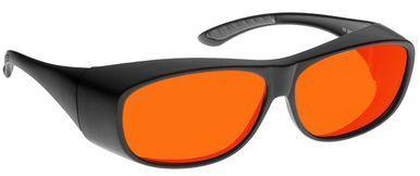 NoIR OTG Deluxe Nighttime Eyewear with Black Over-Prescription Medium Frame and Orange Lens