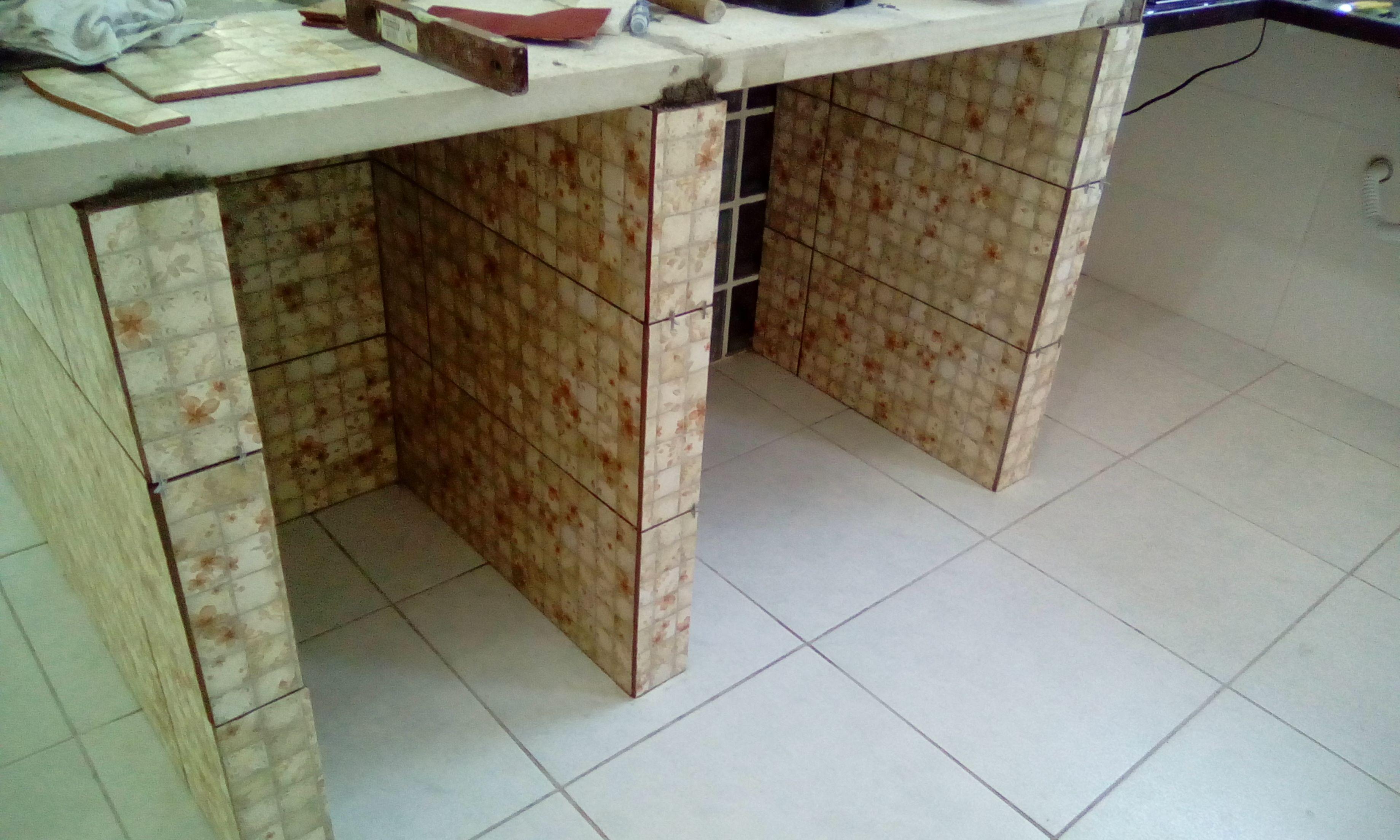 Mesa De Cozinha Com Armario Embutido De Alvenaria Mesa Cozinha
