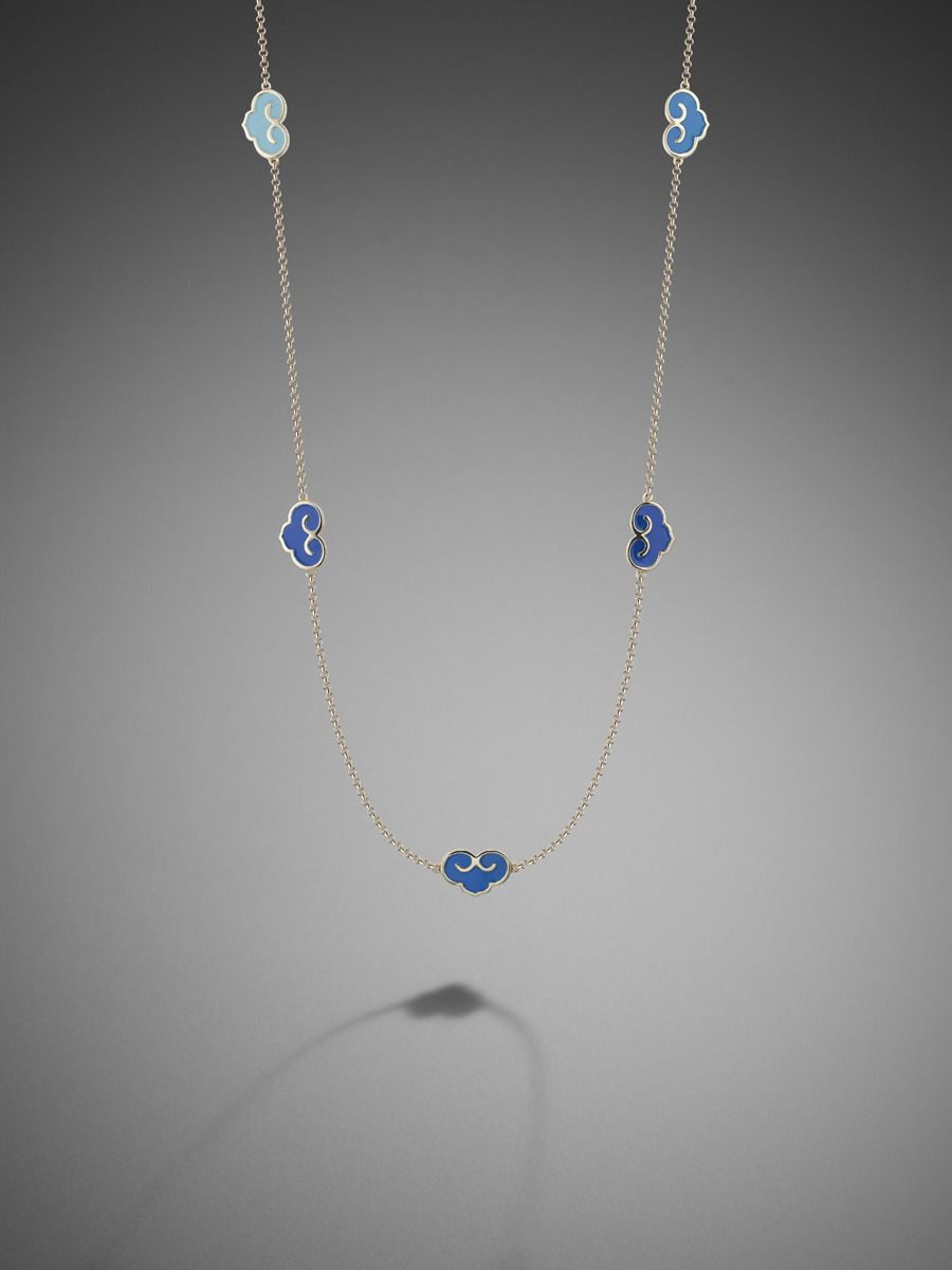 Shanghai Tang Cloud Enamel Necklace - so beautiful but too $$$ for me even for a very special indulgence...