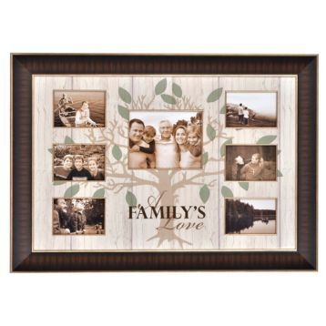 Family Love Collage Frame | Collage, Picture frame decor and Brown ...