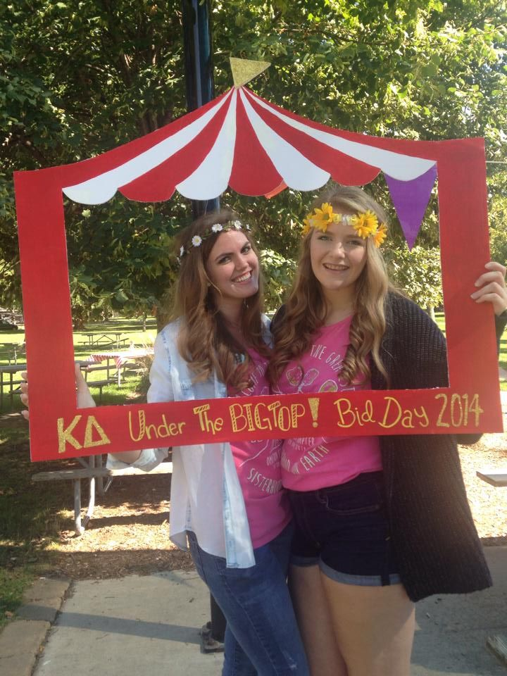 kappa delta circus bid day love seeing my own chapter pop. Black Bedroom Furniture Sets. Home Design Ideas