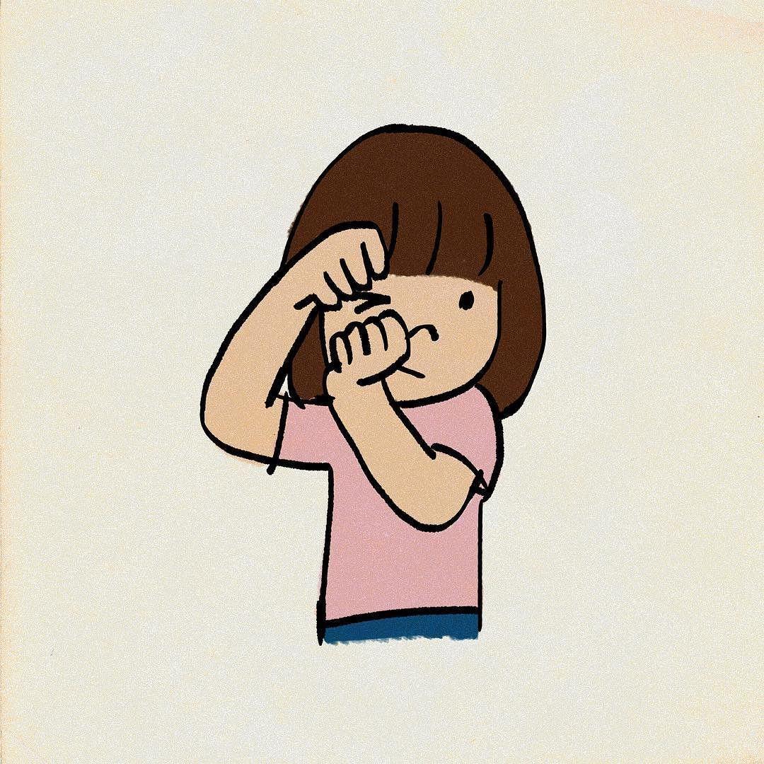 ウィンクの練習 イラスト instagram posts illustration art