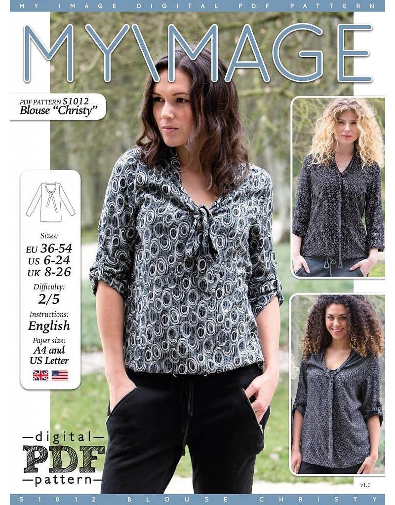 free pattern - S1012 Bluse \