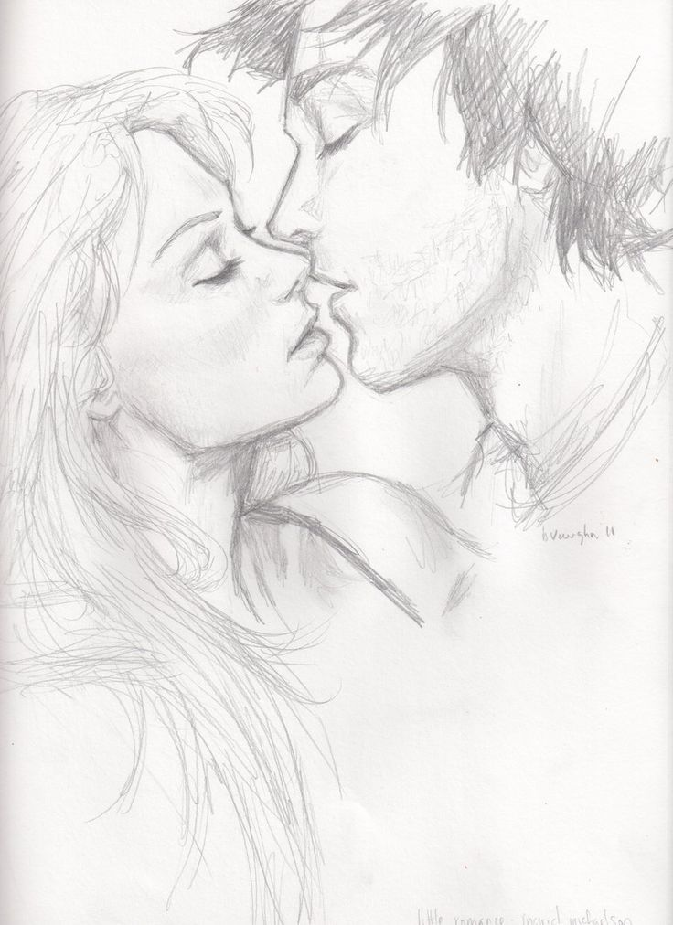 Romantic Couple Drawing Sketch