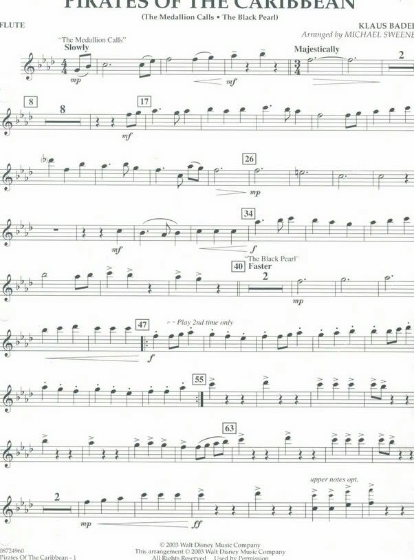 Pin By Maria Ramsey On Band Flute Sheet Music Flute Music Song